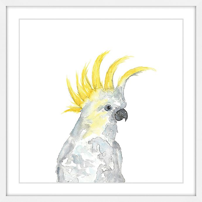 Alternate image 1 for Marmont Hill Cockatoo II 24-Inch Square Framed Wall Art