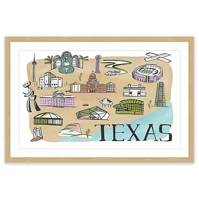 Alternate image 1 for Marmont Hill Big Texas 18-Inch x 12-Inch Framed Wall Art