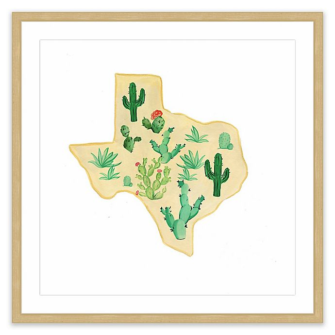 Alternate image 1 for Marmont Hill Texas Cactus 12-Inch Square Framed Wall Art