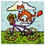 Part of the Marmont Hill Tiger Cat Bike Acrobat Canvas Wall Art