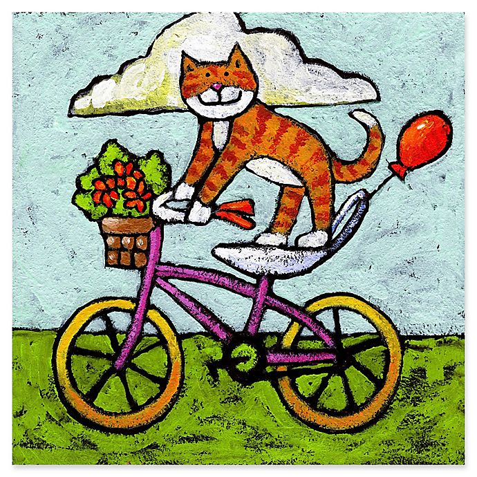 Alternate image 1 for Marmont Hill Tiger Cat Bike Acrobat 18-Inch Canvas Wall Art