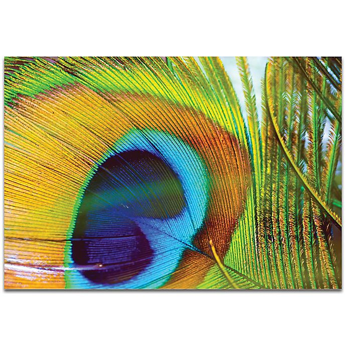 Alternate image 1 for Metal Art Studio Peacock Colors 32-Inch x 22-Inch Metal Wall Art