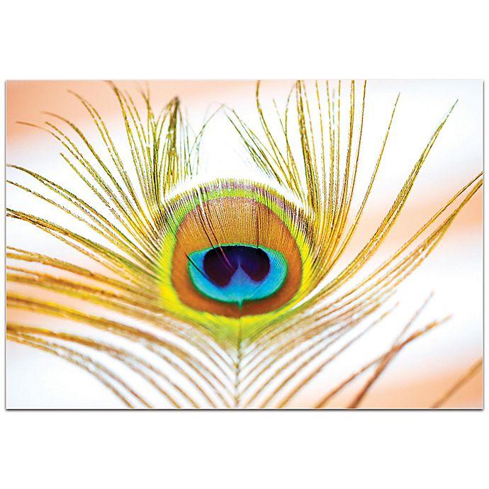 Alternate image 1 for Metal Art Studio Peacock Sprout 32-Inch x 22-Inch Plexiglas Wall Art