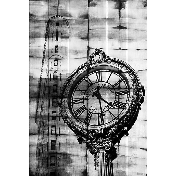 Alternate image 1 for Parvez Taj Madison Square 16-Inch x 24-Inch White Wood Wall Art