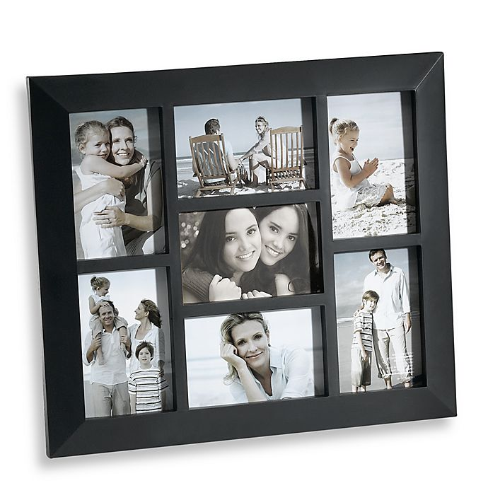 7 Opening Collage Frame In Black Bed