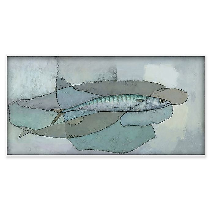 Alternate image 1 for Marmont Hill Cornish Mackerel 45-Inch x 22.5-Inch Canvas Wall Art