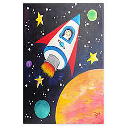 Marmont Hill Rocket Ship Canvas Wall Art