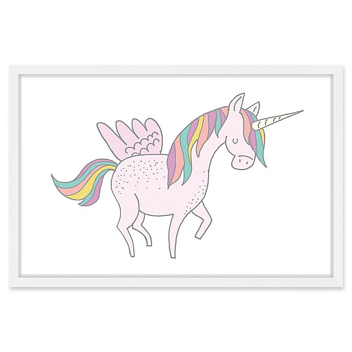Alternate image 1 for Marmont Hill Winged Unicorn 45-Inch x 30-Inch Framed Print Wall Art