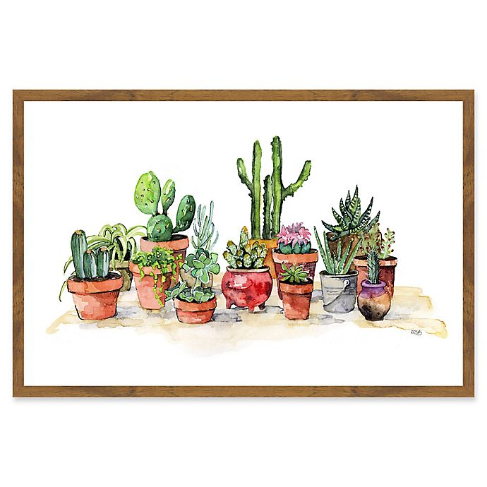 Alternate image 1 for Marmont Hill Potted Plants 24-Inch x 16-Inch Framed Wall Art