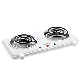 White Double Coil Portable Cooking Range by Toastess