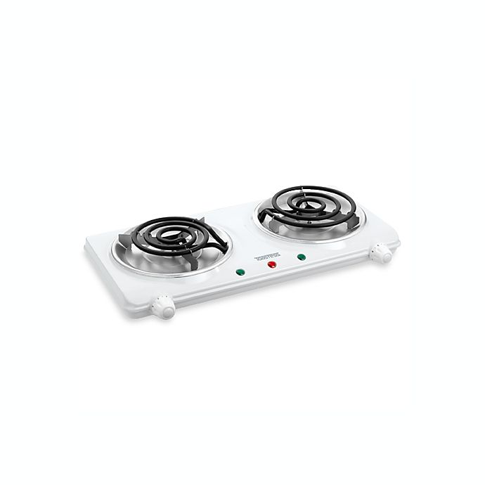 Alternate image 1 for White Double Coil Portable Cooking Range by Toastess