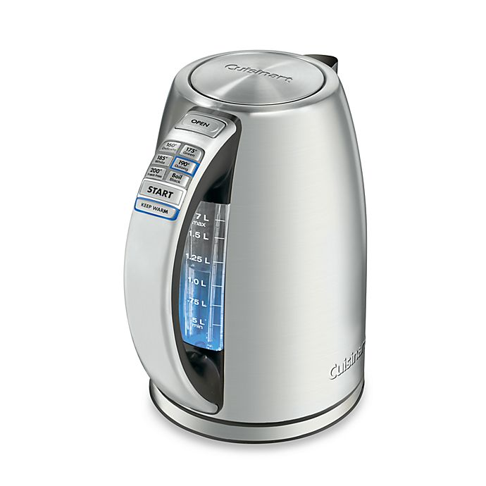 Alternate image 1 for Cuisinart® PerfecTemp™ Stainless Steel Cordless Programmable Electric Kettle