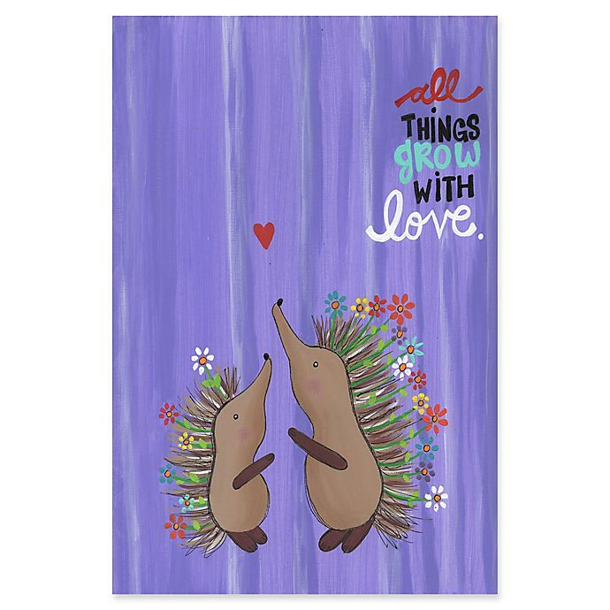 Alternate image 1 for Marmont Hill Porcupine Love 20-Inch x 30-Inch Canvas Wall Art
