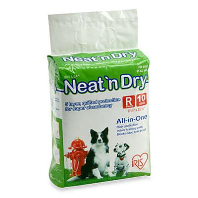 IRIS® Neat 'n Dry™ 10-Pack Medium Floor Protection and Training Pads