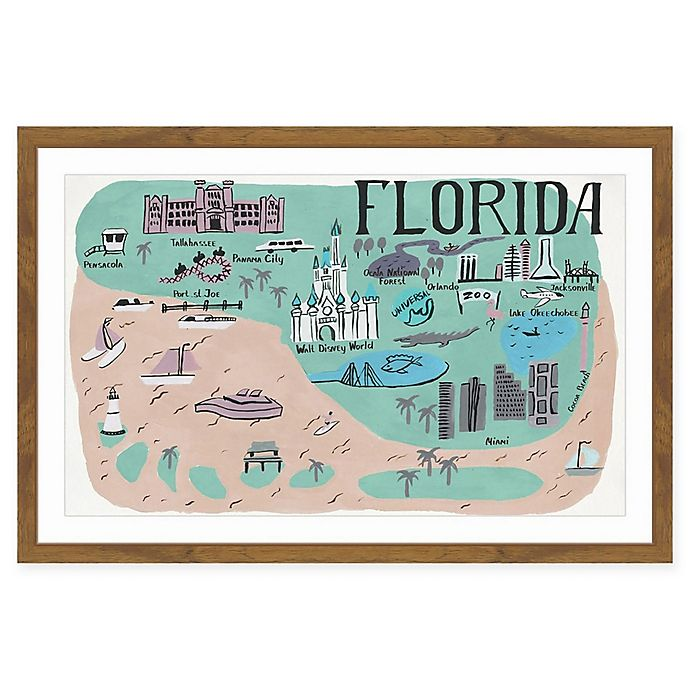 Alternate image 1 for Marmont Hill Florida Sights 24-Inch x 16-Inch Framed Wall Art