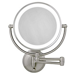 Zadro® Dual-Sided Round LED Lighted Wall Mount Mirror