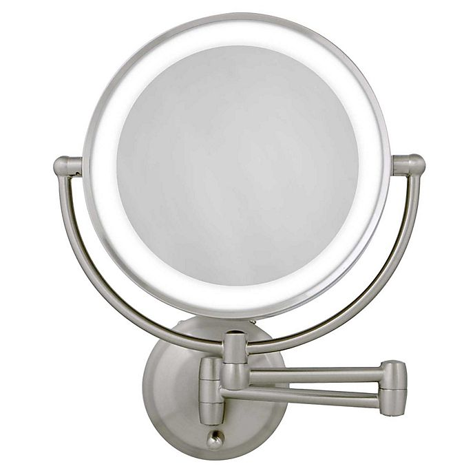 Alternate image 1 for Zadro™ 10X/1X Dual-Sided Round LED Lighted Wall Mount Mirror