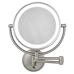 Zadro™ 10X/1X Dual-Sided Round LED Lighted Wall Mount Mirror