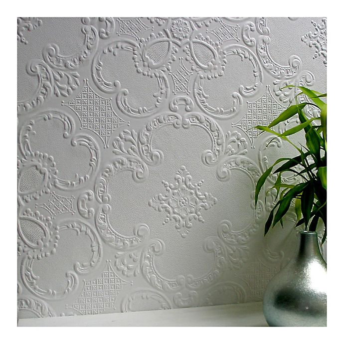 Alternate image 1 for Alfred Supaglypta Paintable Wallpaper in White