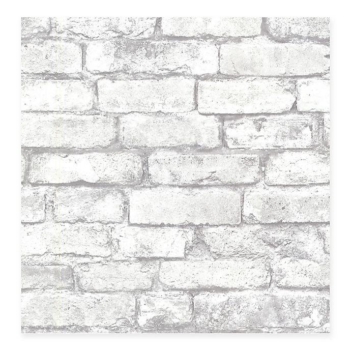 Alternate image 1 for Beacon House Oxford Brickwork Wallpaper in Light Grey