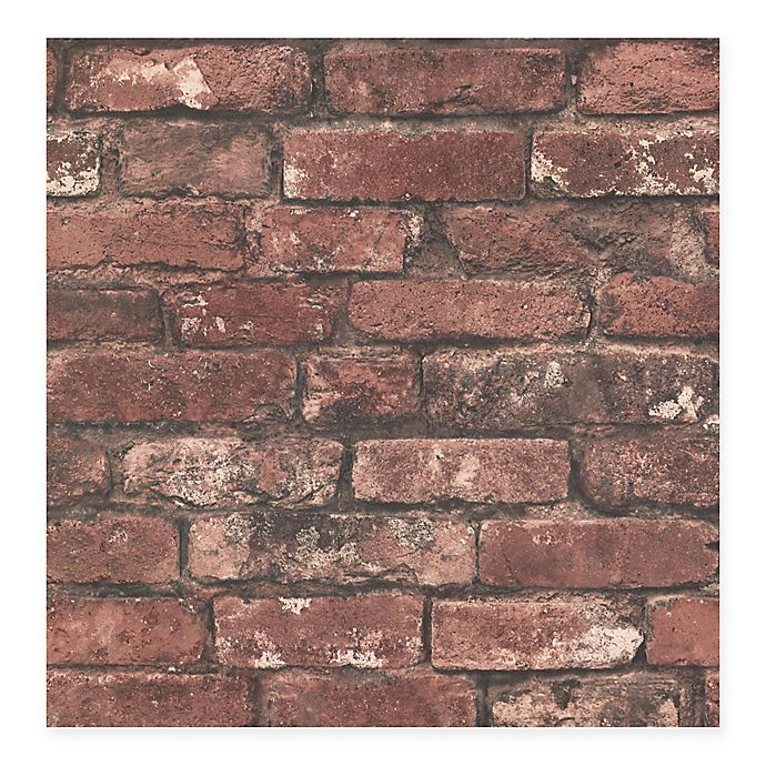 Alternate image 1 for Beacon House Oxford Brickwork Wallpaper in Rust