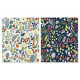Herbarium Floral Motif Wallpaper