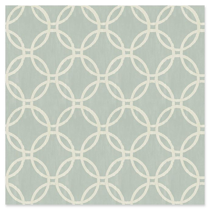 Alternate image 1 for Brewster Home Fashions Eaton Geometric Wallpaper in Blue