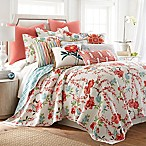Levtex Home Martha Floral Reversible King Quilt Set in Red
