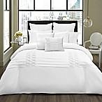 City Scene Triple Diamond 3-Piece King Comforter in White