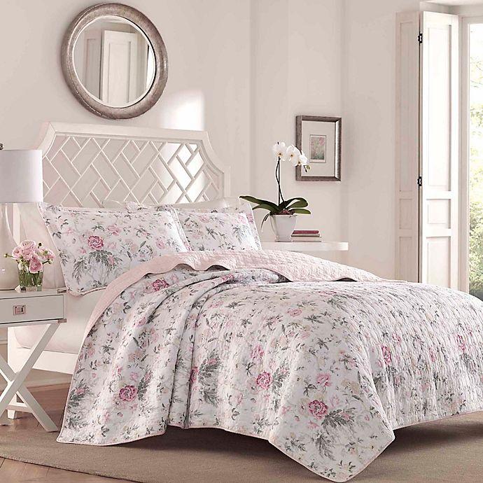 Alternate image 1 for Laura Ashley® Breezy Floral 3-Piece Reversible Quilt Set