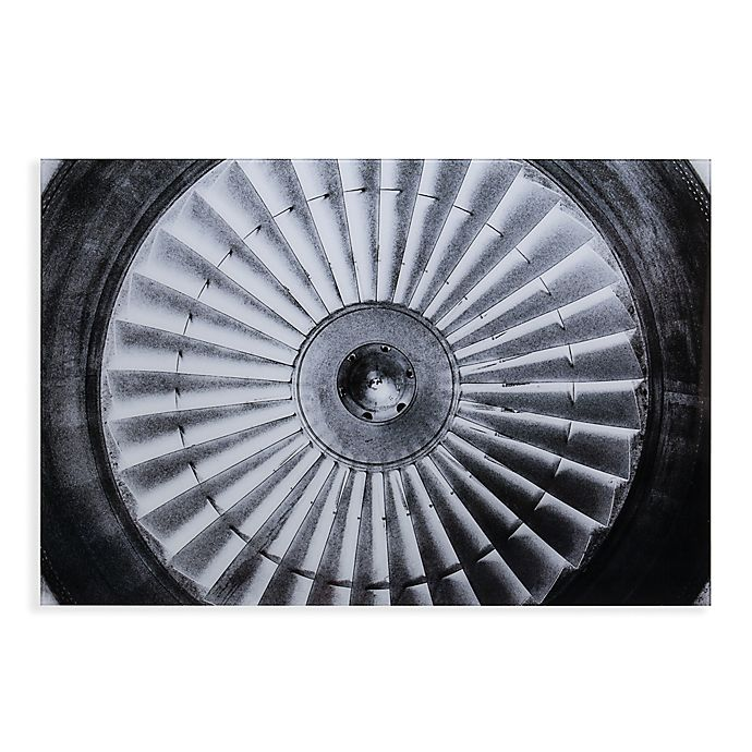Alternate image 1 for Southern Enterprises Jet Engine Glass Wall Art