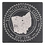 """Thirstystone® """"Youngstown, Ohio"""" Stamp Single Square Coaster"""
