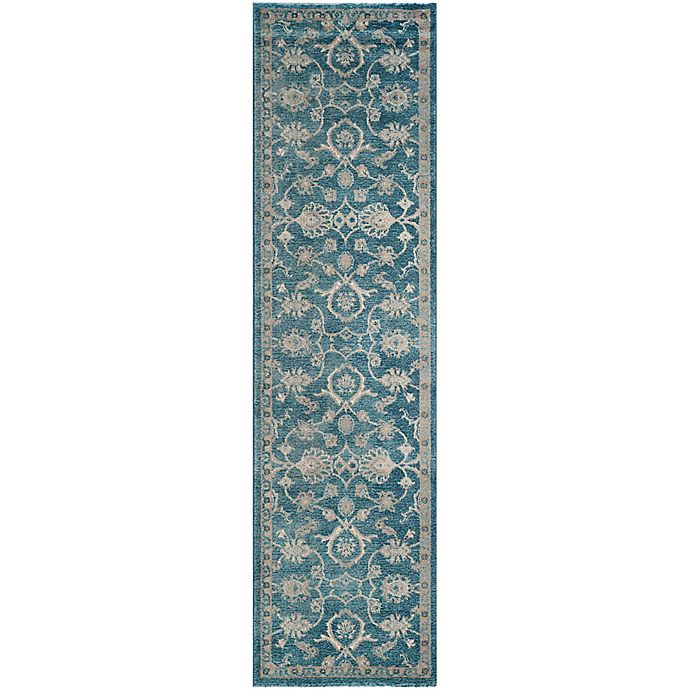 Alternate image 1 for Safavieh Sofia Collection Floral 2-Foot 2- Inch x 8-Foot Runner in Blue
