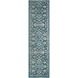 Safavieh Sofia Collection Floral 2-Foot 2- Inch x 8-Foot Runner in Blue