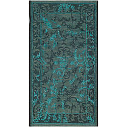 Safavieh Palazzo Kalei 2-Foot 6-Inch x 5-Foot Area Rug in Black/Turquoise
