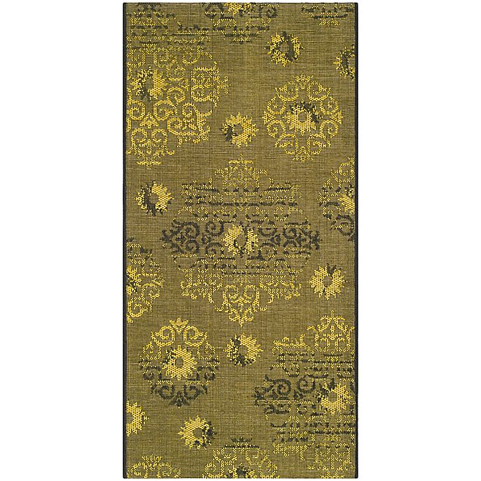 Alternate image 1 for Safavieh Palazzo Olen 2-Foot 6-Inch x 5-Foot Accent Rug in Black/Green