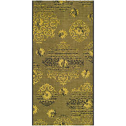 Safavieh Palazzo Olen 2-Foot 6-Inch x 5-Foot Accent Rug in Black/Green