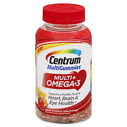 Centrum® Multi Gummies® 100-Count Multi + Omega 3 in Natural Strawberry Lemon and Orange