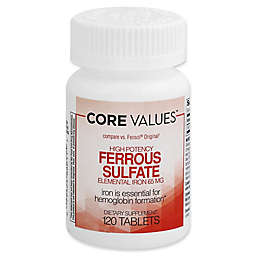 Core Values™ 120-Count 65 mg. High Potency Ferrous Sulfate Tablets