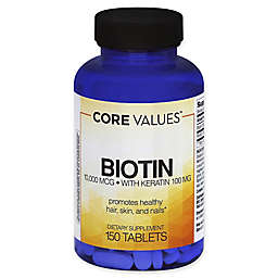 Core Values™ 150-Count 10,000 mcg Biotin with Keratin Tablets