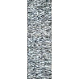Safavieh Natural Fiber Penelope 2-Foot x 6-Foot Area Rug in Blue/Ivory