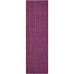 Safavieh Natural Fiber Mallory 2-Foot 6-Inch x 6-Foot Runner in Purple