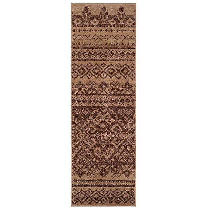 Alternate image 1 for Safavieh Adirondack 2-Foot 6-Inch x 6-Foot Runner in Camel/Chocolate