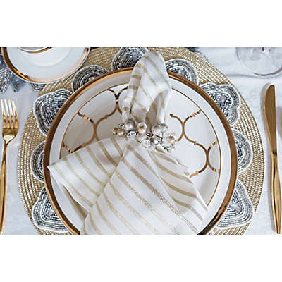 Silver and Gold Holiday Table