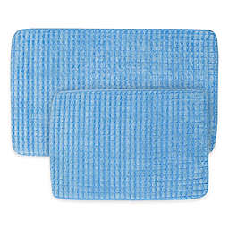 Nottingham Home 2-Piece Jacquard Memory Foam Bath Mat