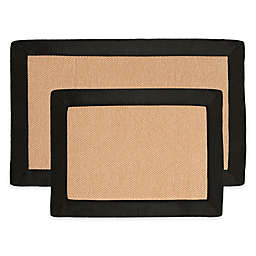 Nottingham Home Faux Fleece Memory Foam Bath Mat (Set of 2)
