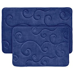 Nottingham Home 2-Piece Embossed Memory Foam Bath Mat