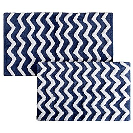 Notthingham Home 2-Piece Chevron Bath Mat Set