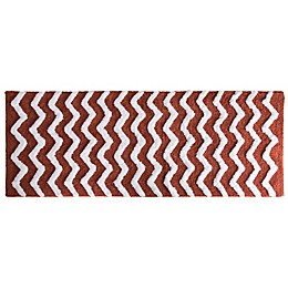 Nottingham Home 24-Inch x 60-Inch Chevron Bath Mat