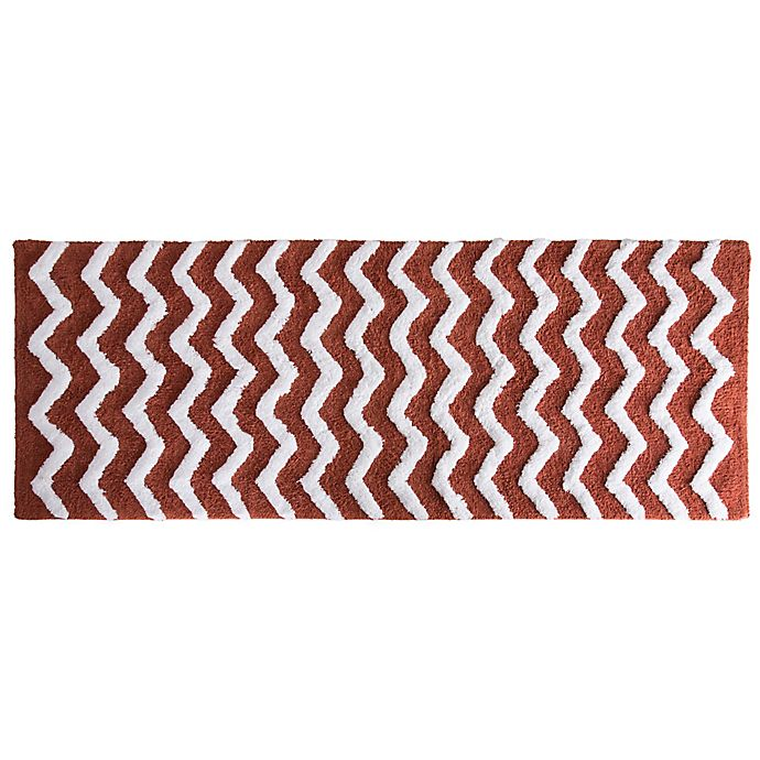 Alternate image 1 for Nottingham Home 24-Inch x 60-Inch Chevron Bath Mat